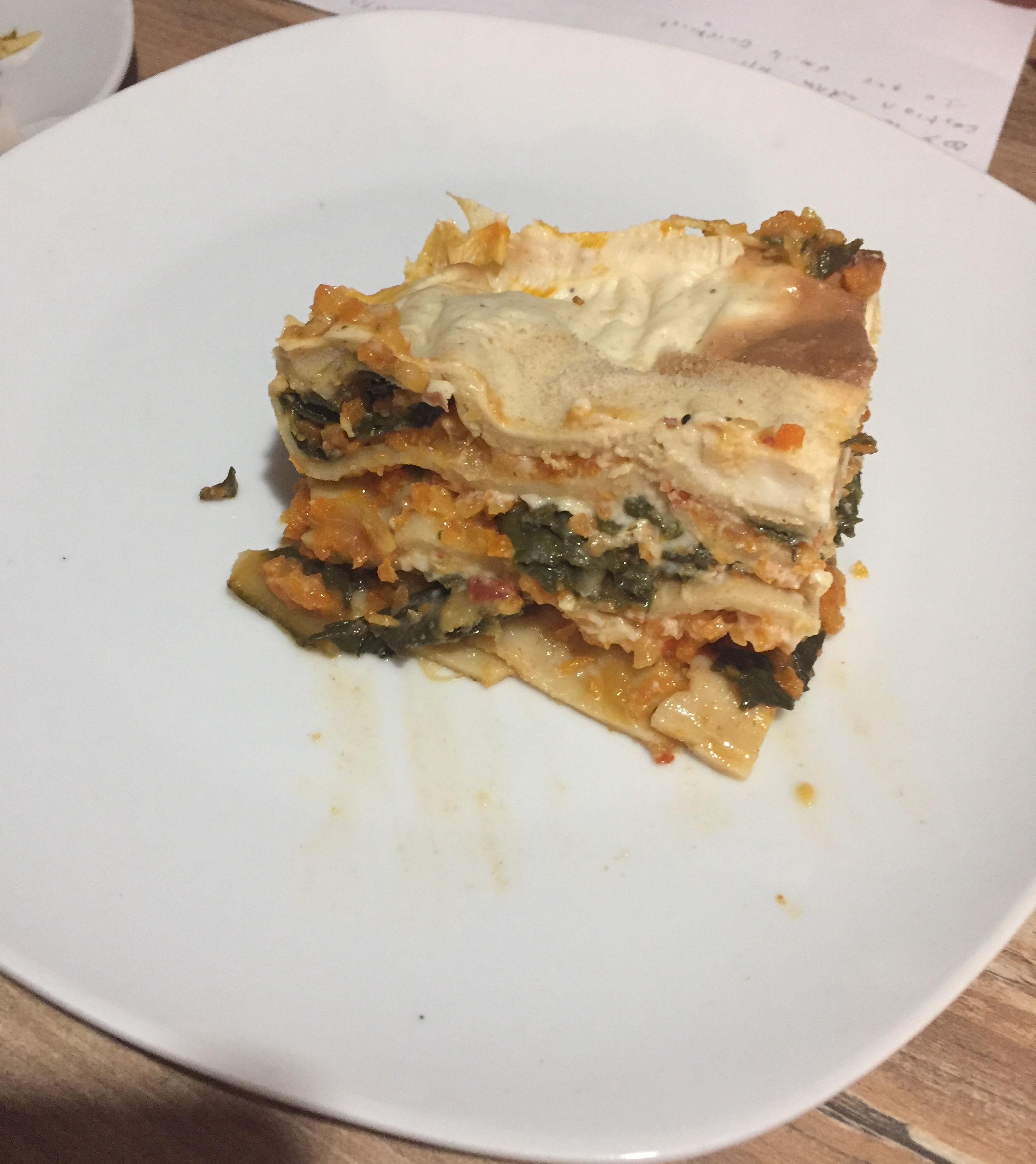 lasagne : le final