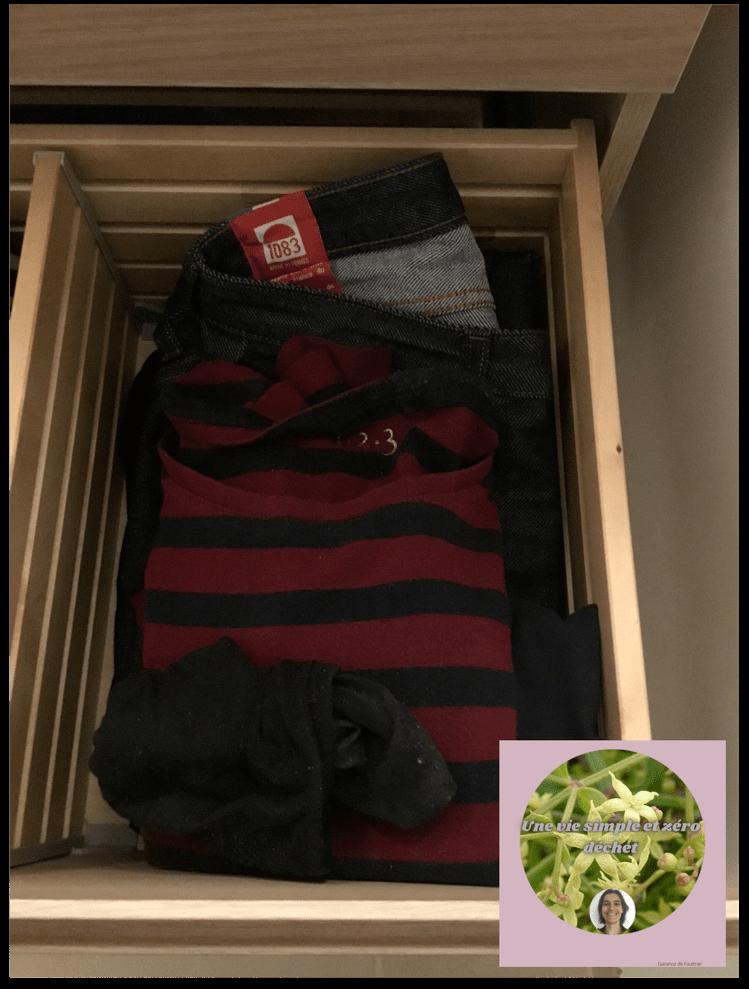 Préparation des vêtements la veille pour le lendemain